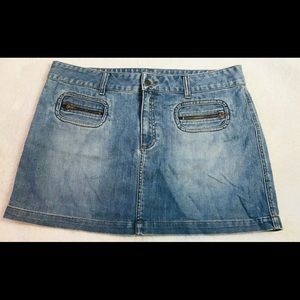 American Eagle Blue Jean Mini Skirt Women's 18